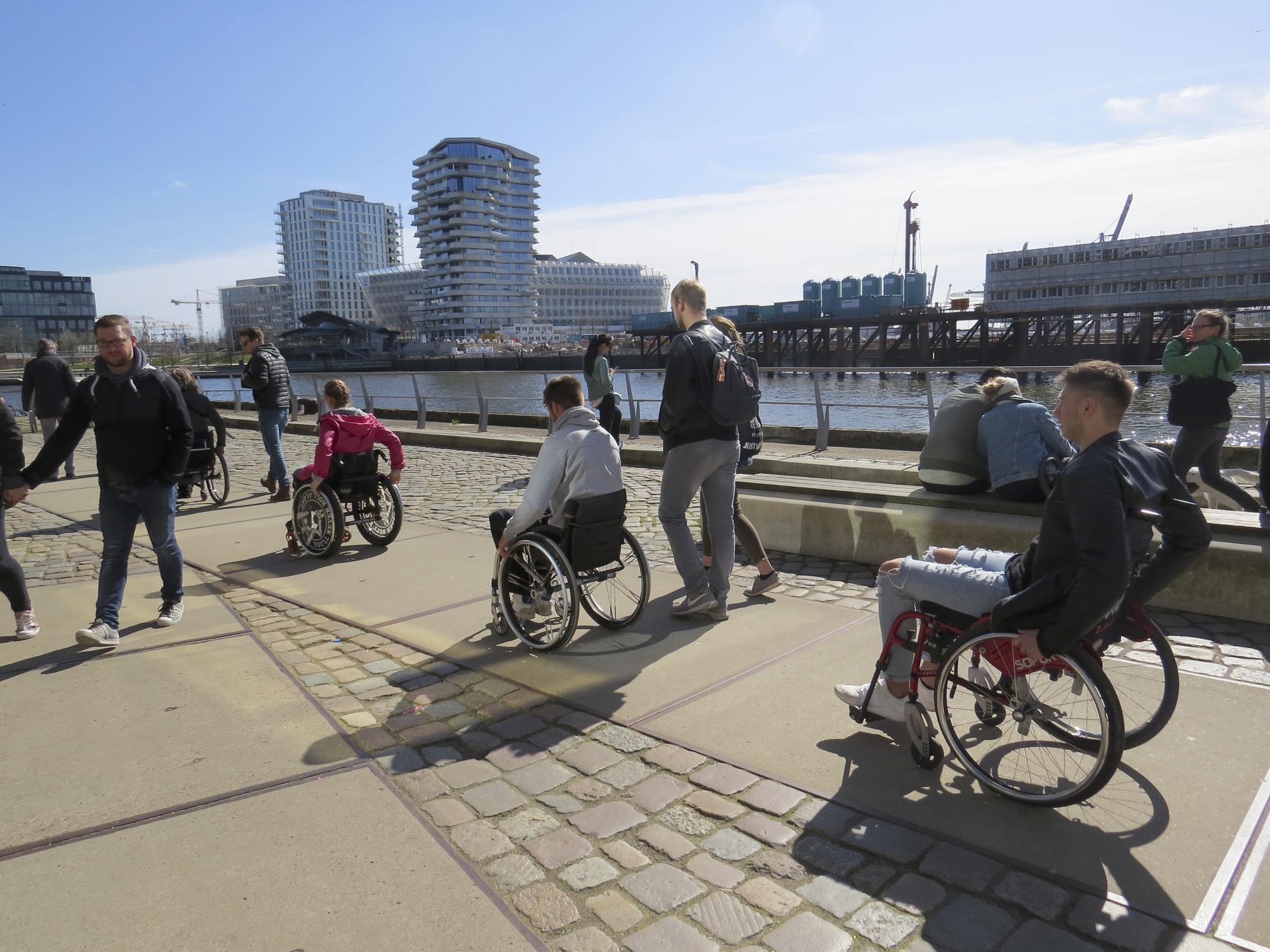 """Rollstuhltour Stadtführung Inklusion """"Hamburger Hafen"""""""